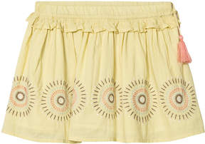 Mini A Ture Noa Noa Miniature Raffia Circle Print Short Skirt