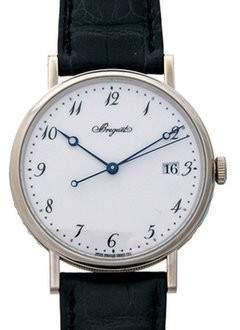 Breguet Classique White Dial 18 Carat White Gold Automatic Men's Watch