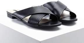 Forever 21 Faux Leather Crisscross Slides