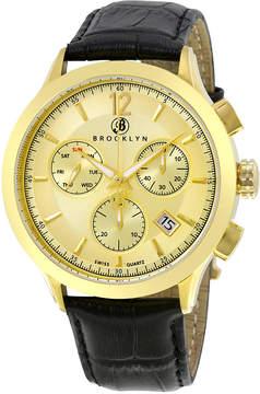 Dakota Brooklyn Watch Co. Brooklyn Swiss Quartz Chronograph Gold Tone Dial Men's Watch