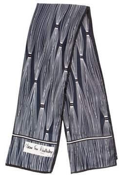 Diane von Furstenberg Silk Stripe Scarf