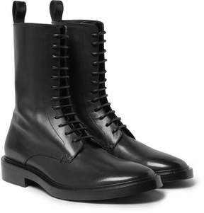 Balenciaga Leather Derby Combat Boots