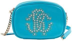 Roberto Cavalli Blue Leather Handbag