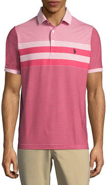 U.S. Polo Assn. USPA Embroidered Short Sleeve Stripe Polo Shirt