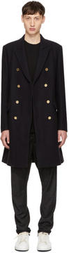 3.1 Phillip Lim Navy Chesterfield Coat