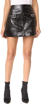 Blank Faux Leather Skirt