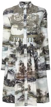 Antonio Marras Printed cotton shirt dress