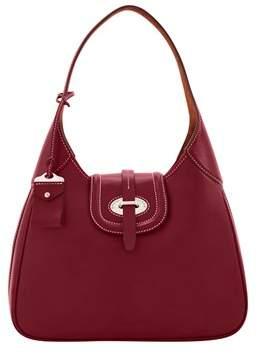 Dooney & Bourke Florentine Toscana Large Hobo Shoulder Bag. - BORDEAUX - STYLE