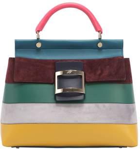 Roger Vivier Medium Cabas Multicolor Suede Bag