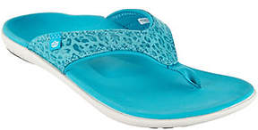 Spenco Orthotic Thong Sandals - Yumi Cheeta Print