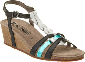Mephisto Women's Mandy Leather Wedge Sandal