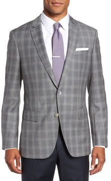 BOSS Men's Hutsons Classic Fit Check Sport Coat