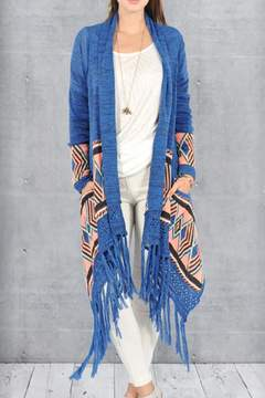 Double Zero Printed Fringe Sweater