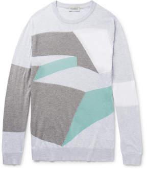 John Smedley Intarsia Sea Island Cotton Sweater