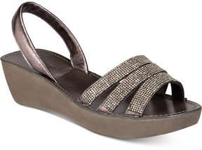 Kenneth Cole Reaction Fine Jewel Embellished Platform Wedge Sandals Women's Shoes