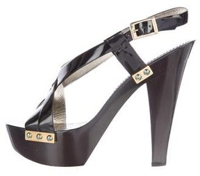 Versace Platform Slingback Sandals