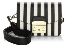 Furla Metropolis Stripe Leather Shoulder Bag