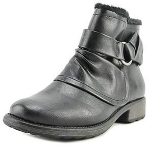 Bare Traps Baretraps Season Women Round Toe Leather Black Ankle Boot.