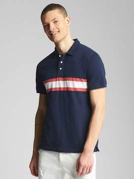 Gap Chest Stripe Polo Shirt in Slub Jersey