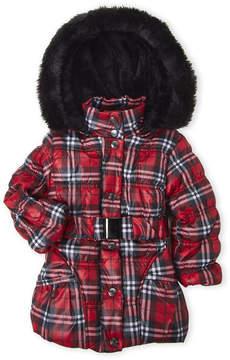 Urban Republic Toddler Girls) Belted Faux Fur Puffer Jacket