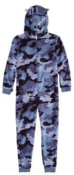 Tucker + Tate Boy's Print Fleece One-Piece Pajamas