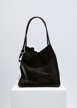 Proenza Schouler black suede extra large tote