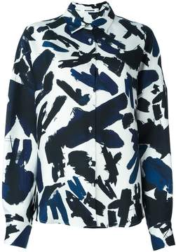 Jil Sander abstract print shirt