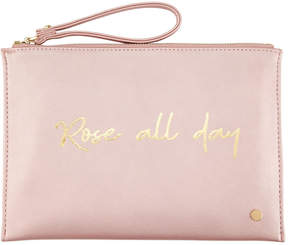 Neiman Marcus Printed Wristlet Pouch Clutch Bag - Rose All Day