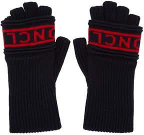 Moncler Navy Fingerless Gloves