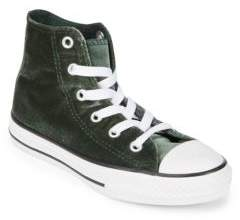 Converse Kid's Emerald Velvet Sneakers