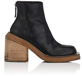 Marsèll Women's Cracked Leather Ankle Boots