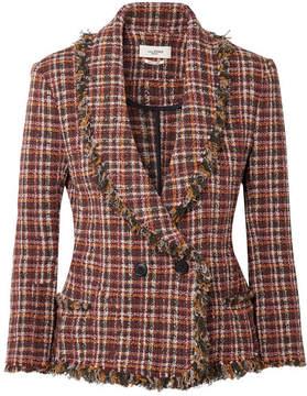 Etoile Isabel Marant Nicole Fringed Cotton-blend Tweed Jacket - Burgundy