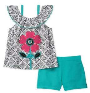 Kids Headquarters Little Girl's Printed Shirt and Short Set
