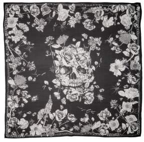 Alexander McQueen Crawling Roses Silk Chiffon Shawl