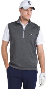 Izod Men's Performance Golf Durable Water-Repellent Quarter-Zip Pullover Vest