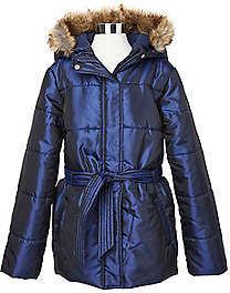 Nautica Girls' Faux Fur Hooded Coat (8-16)