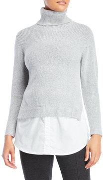 Cliche Layered Effect Cowl Neck Sweater
