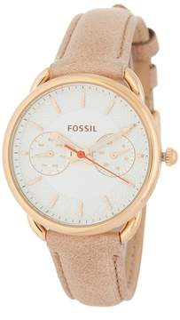 Fossil Women's Tailor Chronograph Leather Strap Watch, 34mm