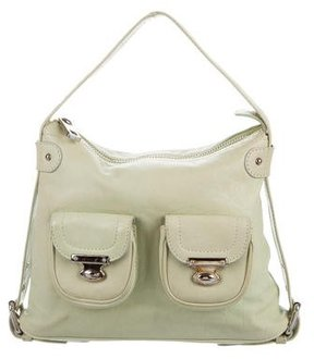Marc Jacobs Leather Handle Bag - GREEN - STYLE