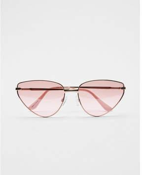 Express neon lens cat eye sunglasses