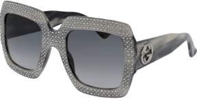 Gucci Fashion Inspired Gradient Grey Square Ladies Sunglasses GG0048S-001 54