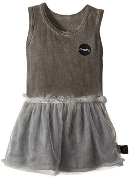 Nununu Dyed Tulle All-In-One Skirt Dress (Infant)