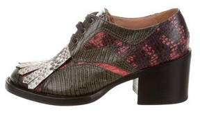Dries Van Noten Embossed Lace-Up Booties w/ Tags