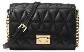 MICHAEL Michael Kors Ruby Leather Clutch - BLACK - STYLE
