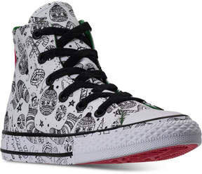 Converse Little Girls' Chuck Taylor All Star High Top Coloring Book Casual Sneakers from Finish Line