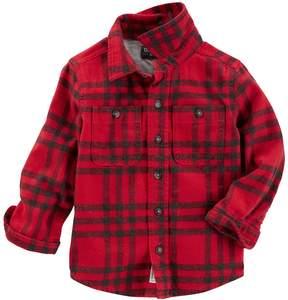 Osh Kosh Toddler Boy Flannel Plaid Shirt