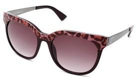 Just Cavalli Women's Round Frame Sunglasses Pink/dark Red.