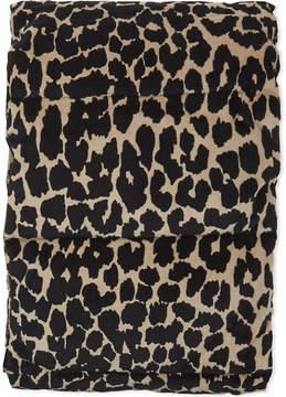 Maje Padded leopard print cotton scarf