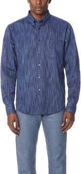 Naked & Famous Denim Tie Dye Rain Weave Shirt