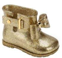 Mini Melissa Little Girl's Sugar Rain Glitter Bow Boots